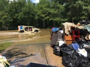 Giving back after Hurricane Harvey causes Houston, Texas flooding