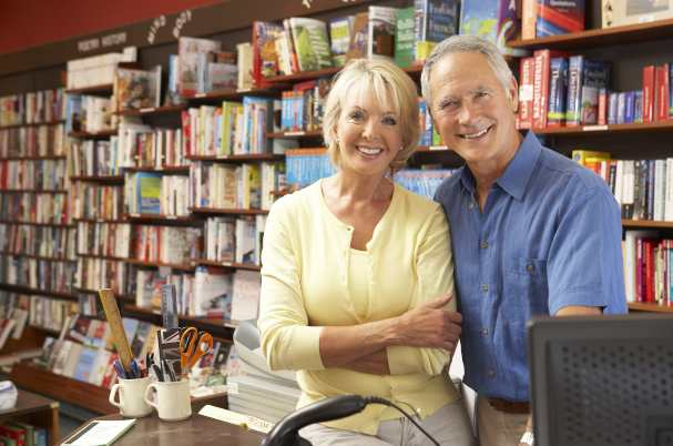 Small Business Owners in Book Store