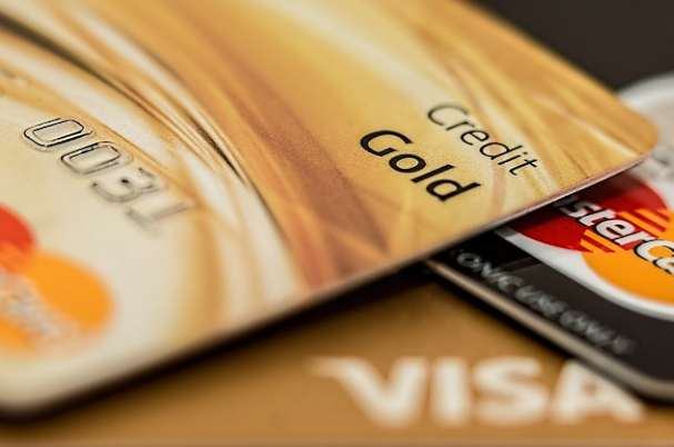 Cybersecurity image with credit cards