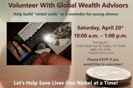 Nickel from Nicole Volunteer Event Announcement
