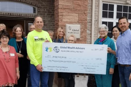 GWA Donation Check Presentation to Nickel from Nicole