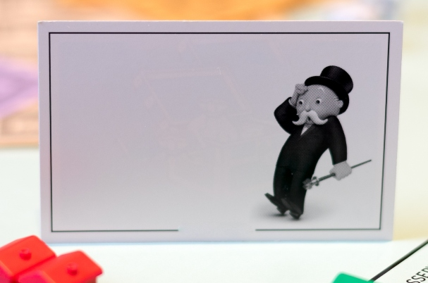 Repo Market depicts top hat character from Monopoly game