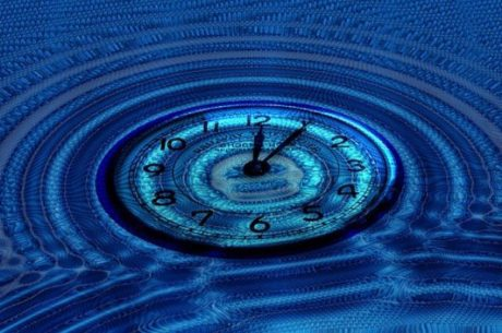 Business continuation planning depicts a clock face under water.